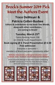 Book Talk on March 25
