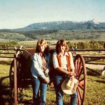 Sam (left) and me in Wyoming (age 24)