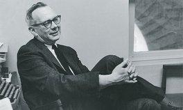 Irving Howe, 1962 Photograph: Photo by Jose Mercado/Stanford News Service © Stanford University