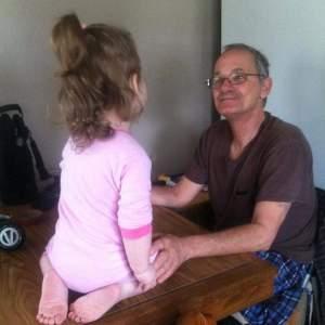 Danny and his granddaughter, Amanda's daughter,