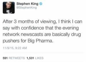 stephen king on big TV