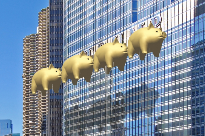 Architects Float Plan to Block Trump Tower Chicago Sign with Golden Pigs