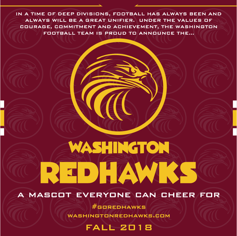 Did This Just Actually Happen? Dan Snyder honors Native Americans, changes team mascot to Washington Redhawks