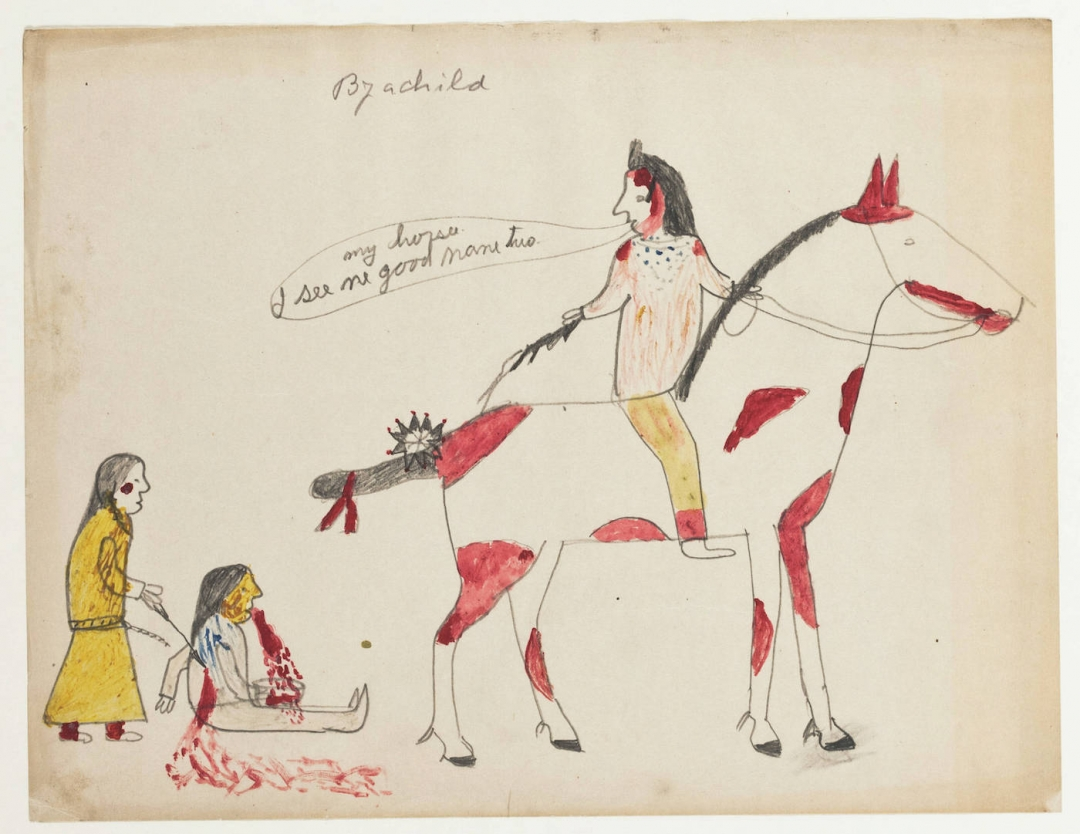 Newly Digitized Collection of Early 20th-Century Lakota Drawings Tells a Curious History