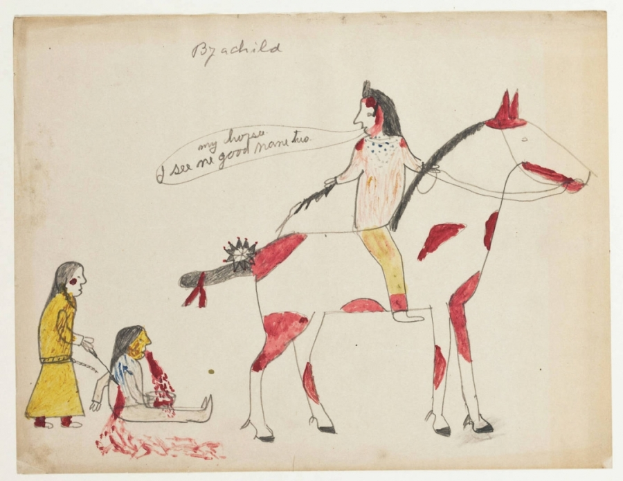 Newly Digitized Collection of Early 20th-Century Lakota Drawings Tells a CuriousHistory