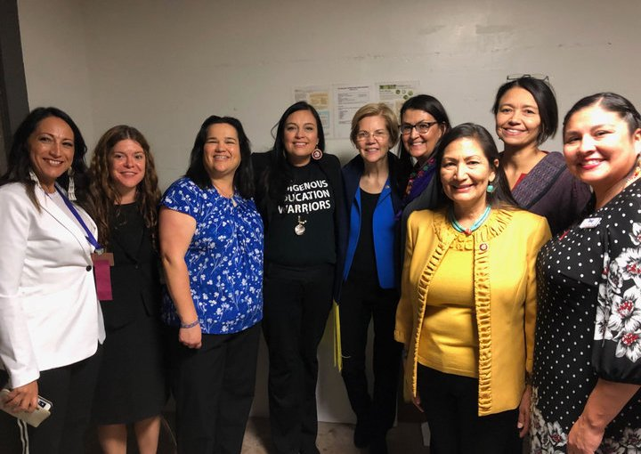 BREAKING: Double Standard? | Native Women present shawl to Sen. Warren#MMIWG