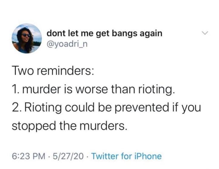 murder vs riot